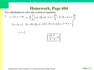 Homework, Page 604