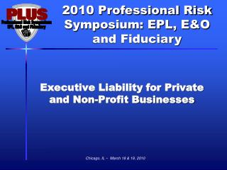 Executive Liability for Private and Non-Profit Businesses