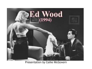Presentation by Callie McGovern