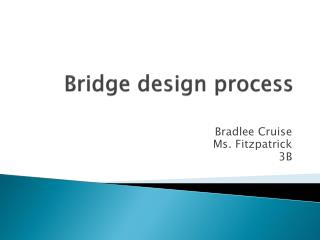 Bridge design process