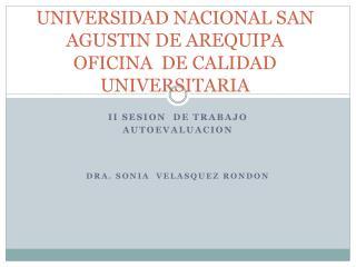 UNIVERSIDAD NACIONAL SAN AGUSTIN DE AREQUIPA OFICINA  DE CALIDAD UNIVERSITARIA