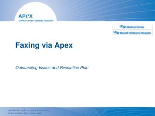 Faxing  via  Apex