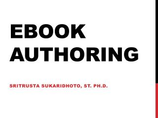 Ebook  Authoring
