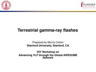 Terrestrial gamma-ray flashes