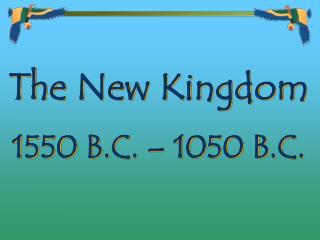 1550 B.C. – 1050 B.C.
