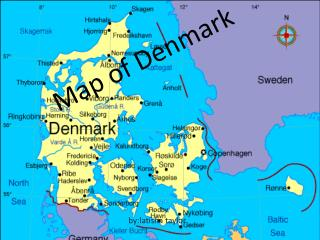 Map of  D enmark
