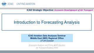 Introduction to Forecasting Analysis