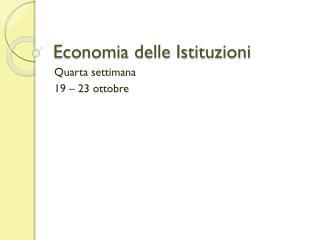 Economia delle Istituzioni