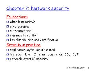 Chapter 7: Network security