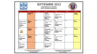 SEPTIEMBRE  2013 DEPARTAMENTO DE PEDIATRÍA         ROL DE SESIONES ACADÉMICAS