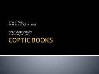 COPTIC BOOKS
