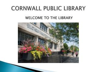 CORNWALL PUBLIC LIBRARY