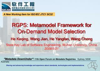 RGPS: Metamodel Framework for    On-Demand Model Selection