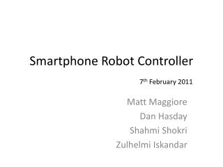 Smartphone Robot Controller
