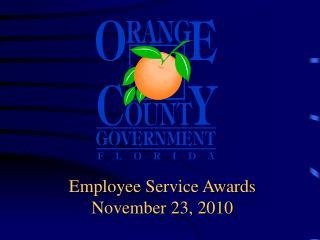 Employee Service Awards November 23, 2010