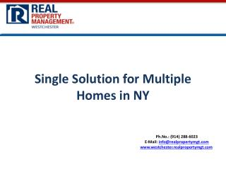 Single  Solution  for  Multiple Homes in NY
