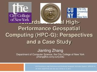Towards Personal High-Performance Geospatial Computing HPC-G: Perspectives and a Case Study