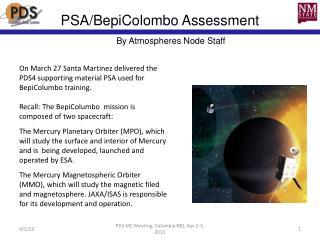 PSA/ BepiColombo  Assessment