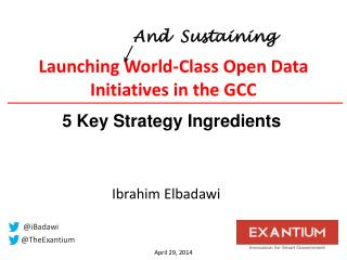 Launching World-Class Open Data Initiatives in the GCC