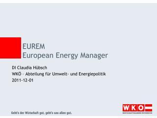 EUREM European  Energy  Manager