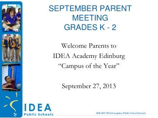 September Parent  MeetinG grades K - 2