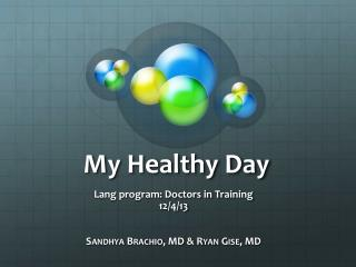 My Healthy Day
