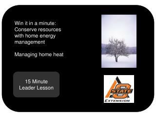 15 Minute Leader Lesson