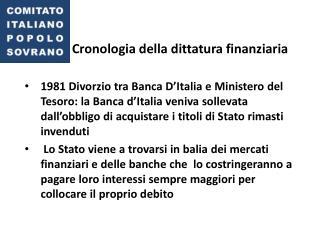 Cronologia della dittatura finanziaria