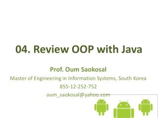 04.  Review OOP with Java