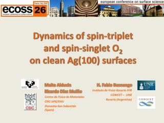 Dynamics of spin-triplet  and spin-singlet O 2 on clean Ag(100) surfaces