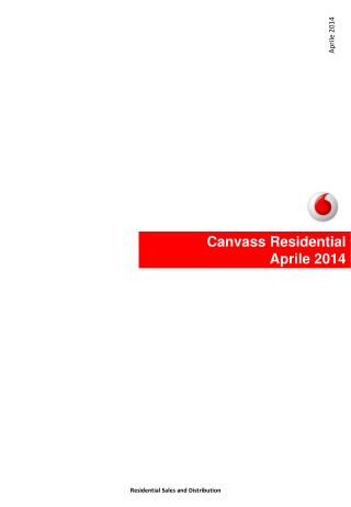 Canvass  Residential Aprile  2014