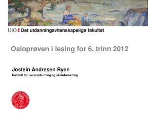 Oslopr�ven i lesing for 6. trinn 2012