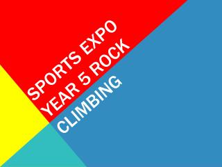 Sports Expo  Year 5 Rock Climbing