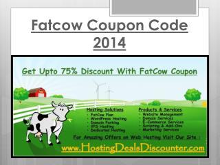 Fatcow  Coupon Code 2014