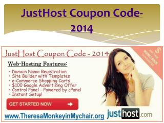 JustHost Coupon Code-2014