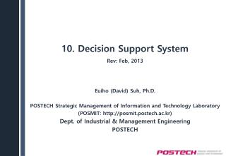 10. Decision Support System