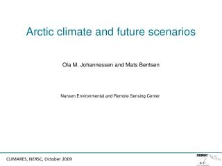 Arctic climate and future scenarios