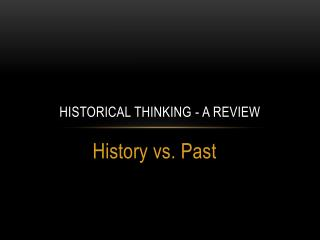 Historical Thinking - A Review