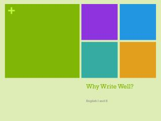 Why Write Well?