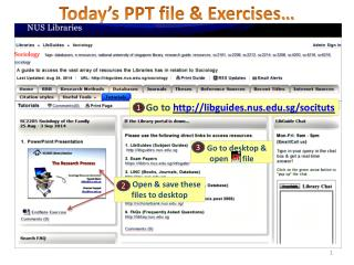 Today's PPT file & Exercises…