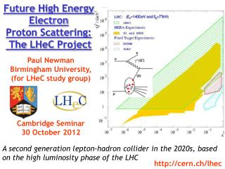 Future High  Energy  Electron Proton  Scattering :  The  LHeC  Project