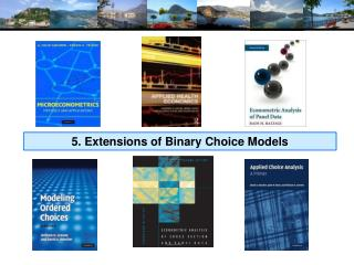 5. Extensions of Binary Choice Models