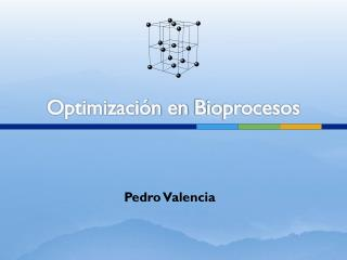 Optimización en  Bioprocesos