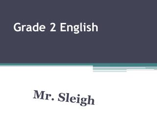 Grade 2 English