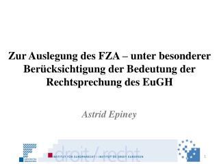 Astrid  Epiney