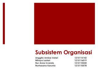 Subsistem Organisasi
