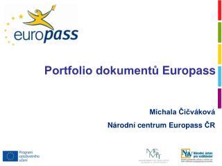 Portfolio dokumentů  Europass