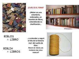 BIBLOS      =  LIBRO BIBLIA          =  LIBROS