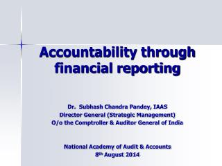 Accountability through financial reporting