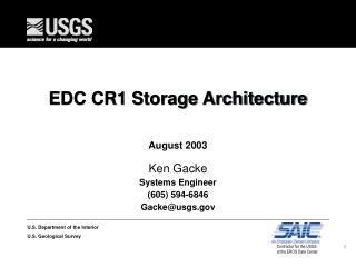 EDC CR1 Storage Architecture